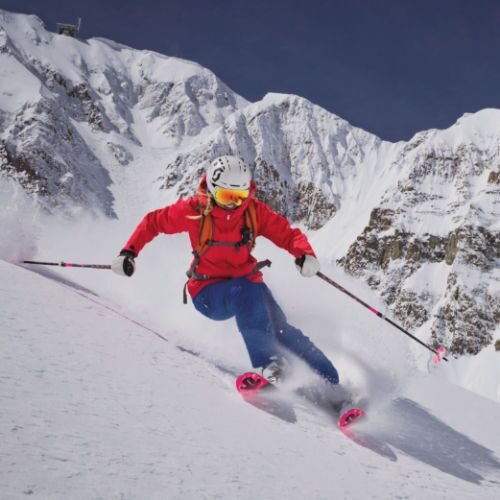 Skier at Big Sky Resort