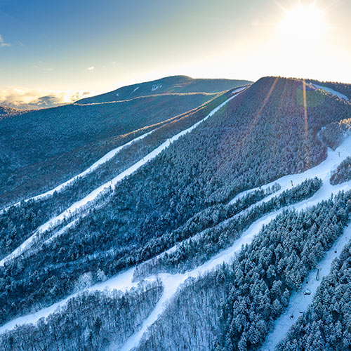 Skier at Loon Mountain