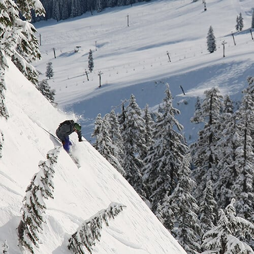 Skier on the Summit at Snoqualmie