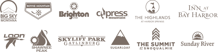 Collection of Resort Logos in the Boyne Resorts Family